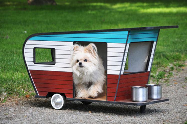 Des niches dans un style caravane pour votre chien joli joli design - Decorer une caravane ...