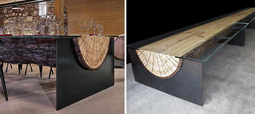 18 magnifiques tables qui ont un design particulier et