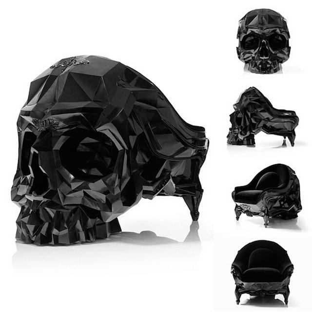 La Skull Armchair Un Fauteuil Aust 232 Re En Forme De Cr 226 Ne Joli Joli Design