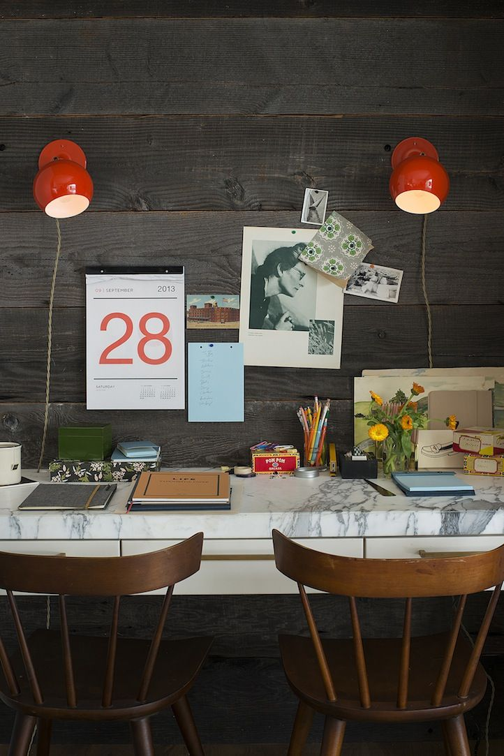 des id es inspirations pour d corer votre bureau joli joli design. Black Bedroom Furniture Sets. Home Design Ideas