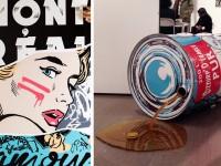 L'artiste urbain de Montréal WIA crée des oeuvres en utilisant des symboles québécois