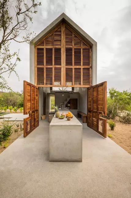 la casa tiny une mini maison design en b ton louer petit prix au mexique joli joli design. Black Bedroom Furniture Sets. Home Design Ideas