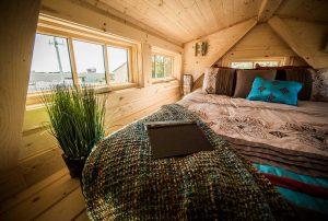 You can enjoy your favorite book in Tumbleweed Elm sleeping loft.