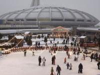 Une charmante patinoire sera installée près du Stade olympique tout l'hiver