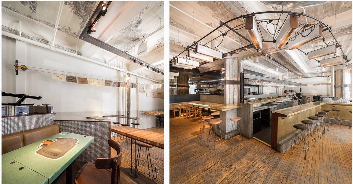 Le bar restaurant furco montr al un d cor industriel qui joue sur le jeu - Bar deco industrielle ...