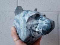 Concrete Animalz : de l'origami au béton