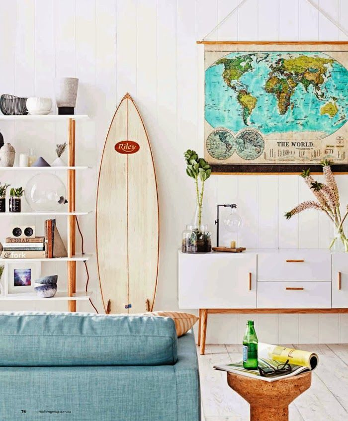 10 Beach House Decor Ideas Themed Bathroom Decoration: 20 Intéressantes Façons D'utiliser Une Planche De Surf