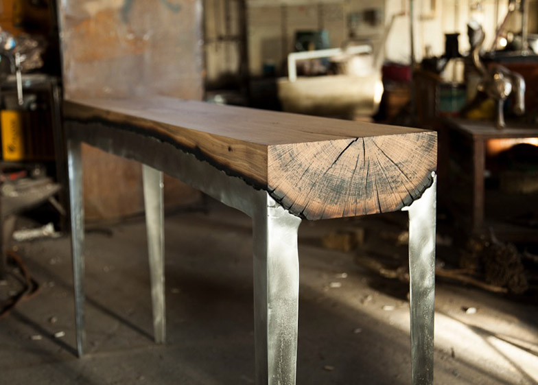 Cast-Aluminium-and-Tree-Trunk-Furniture-by-Hilla-Shamia-Studio_4