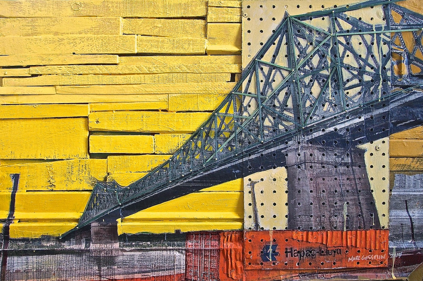 Pont Jacques Cartier, pied du courant