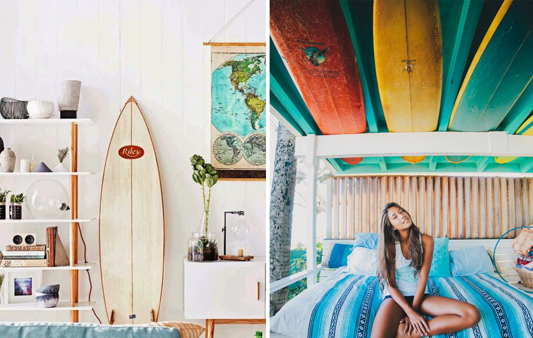 D co maison surfeur for Surf decoration