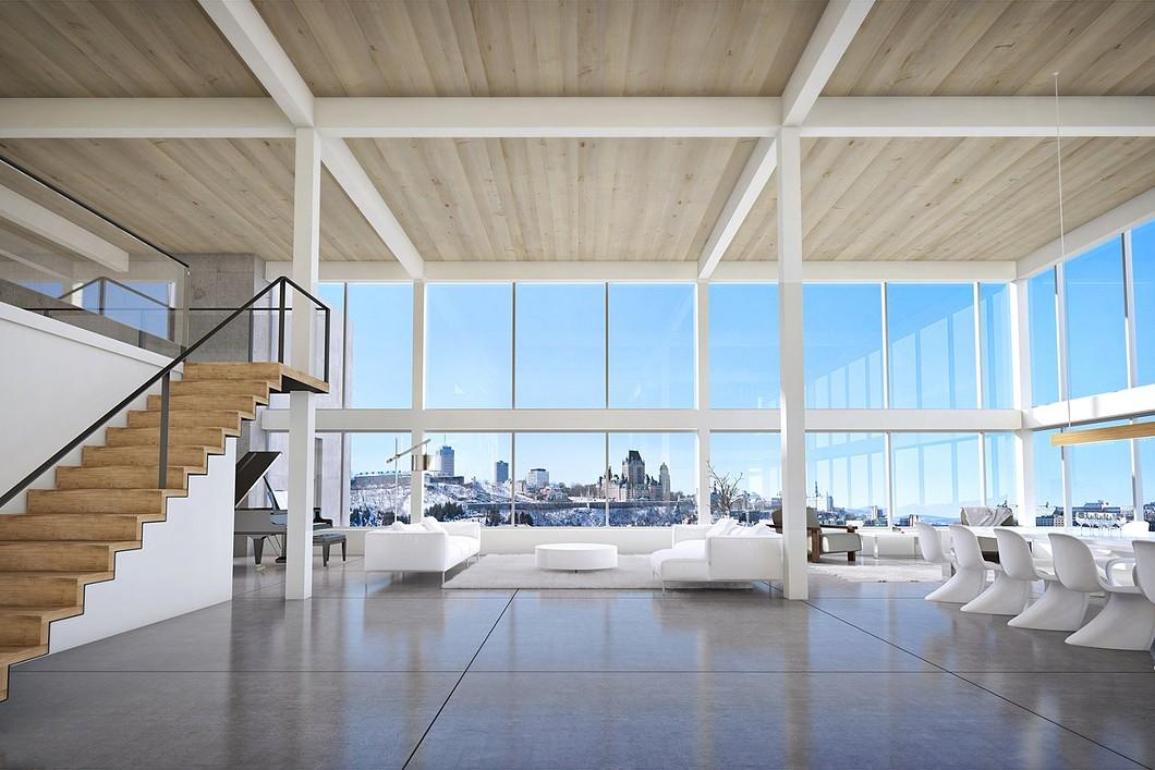 Penthouse spectaculaire avec vue sur le ch teau frontenac for Designer interieur quebec