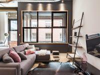 Un appartement jumelé au style industriel et urbain disponible sur la rue Panet à Montréal
