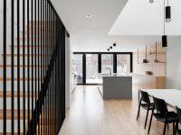 La résidence Somerville – Un résultat minimaliste pour une jeune famille à Montréal